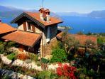 Here you can see Casa Lavender in Spring looking over the lake and Isola Bella