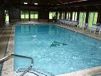 Heated indoor pool at sports center