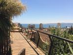 Panoramic views from living room and terrace of the Bellavista cottage