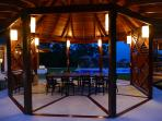 Gazebo with dinning area