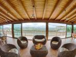The relax zone in the veranda