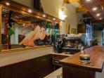 Our bar with its coffee machine for your best espresso