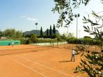 tennis courts available for passionates!