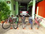 Bicycles available to guests on a free of charge hire basis
