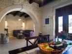 Indoor dining area.