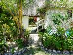 Floral gardens surround the Bure (fijian for cottage). 4 Step passage betw Bedroom & Kitchen bldgs
