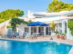 Villa and pool with great views over the beautiful landscaped gardens and golf couse