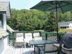 Ice Palace: Sunny deck with BBQ and eating area