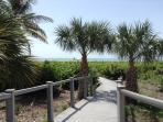 Private walkway to the beach!