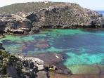 One of many secluded bays on Rottnest Island