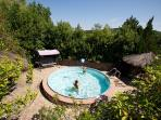 The small heated swimming pool