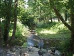 Stream running through the grounds