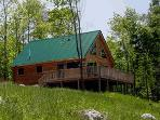 Log Chalet with wrap around deck