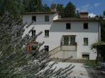 The main buiding, a meticulously restored centry-old typical Umbrian farm-house