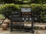 3 Burner BBQ Grill (For model display purpose only. Landscape not from the property)