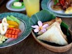 Fresh Breakfast from our restaurant in Ubud