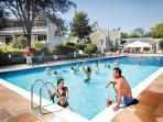 OUTDOOR SWIMMING POOL AND PADDLING POOL   --  IDEAL FOR SUNNY DAYS !!
