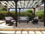 Rear Pergola...ideal for shade through the day or evening drinks...