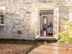 FRENCH DOORS TO GARDEN