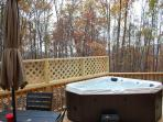 Hot tub under the stars!