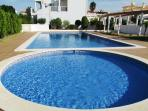 shared swimming pool for adults and children