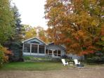 back of cottage- fall
