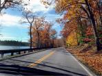 Fall foliage and lakes along Rt. 1