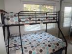Second Bedroom - Bunk bed with a Doublee bed below and a Single bed abov