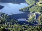 The hydroelectric dam at lake Eguzon just 1 junction up the motorway from us is worth a visit