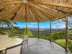 Gazebo with views across the valley and distant ranges