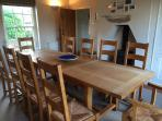 Dining room seats up to 10 + high chair