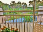 Lanai  sunset view. Dine al fresco. Our balconies are on L &  R