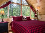 Upstairs King Bedroom,Watch the moon and stars while relaxing at night!
