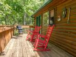 Private ! Rear Deck Rockers/ Relax while enjoying that first cup of Coffee in the morning's..