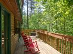 Private Rear Deck /No Cabins in Back/Wooded