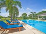 10 sun beds around the pool - more on 1st floor terasse