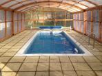 Heated pool inside Enclosure