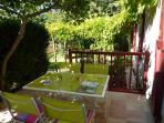 Terrasse sur jardin privatif