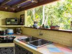 la cuisine avec vue sur la nature