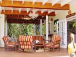Ocean Song private beach front lounge with honor bar, beach chairs, snorkel equipment & games.