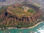 View of Diamond Head Crater