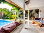 lounge at the villa