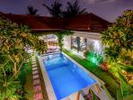 entire villa look at night