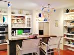 Fully equipped kitchen with fantastic ocean views.