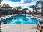 Amazing 5 star club with pool, slide, cabanas, and clubhouse lounge