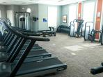 Resort gym with state of the art machines free to use for guests