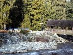 This area is behind The Gables. On the right is the Covered Bridge, one of the landmarks of the parks in Whistler. You...