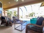 Relax outside on the lanai