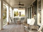Front Porch - Ample Seating & Swinging Bed