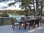 Deck dining with fabulous views!